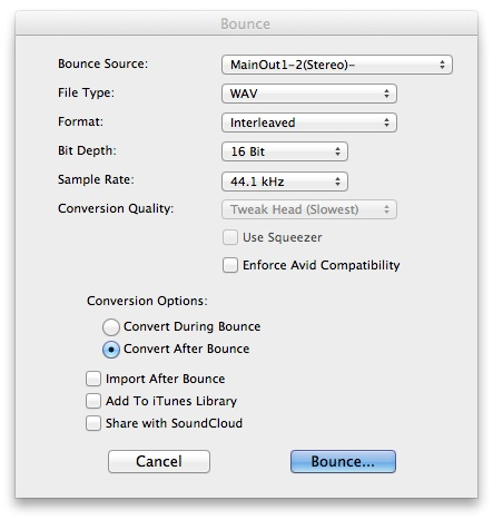 TeachingMusic » (sonicArts) bouncing to disk in pro tools